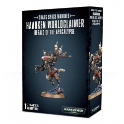 HAARKEN WORLDCLAIMER herald of the apocalypse 1 MINIATURA Citadel GAMES WORKSHOP warhammer 40k CHAOS SPACE MARINES età 12+ Games