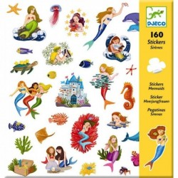160 ADESIVI stickers LE SIRENE mermaids DJECO DJ08885 autocollanti SAGOMATI età 4+ Djeco - 1