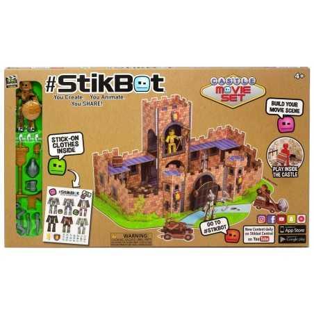 CASTLE MOVIE SET castello medievale STIKBOT robusto FILM zing VESTITI ADESIVI età 4+ Stikbot - 1