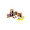 CASTLE MOVIE SET castello medievale STIKBOT robusto FILM zing VESTITI ADESIVI età 4+ Stikbot - 2