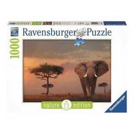 PUZZLE ravensburger ELEFANTE DEL MASAI MARA 1000 pezzi NATURE EDITION 13 originale 50 x 70 cm Ravensburger - 1