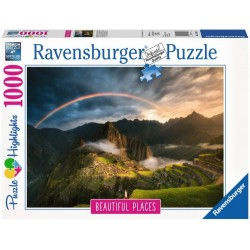 PUZZLE ravensburger ARCOBALENO SU MACHU PICCHU 1000 pezzi originale 50 x 70 cm Ravensburger - 1