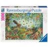 PUZZLE ravensburger FORESTA MAGICA DI NOTTE 1000 pezzi HANNA KARLZON originale 50 x 70 cm Ravensburger - 1