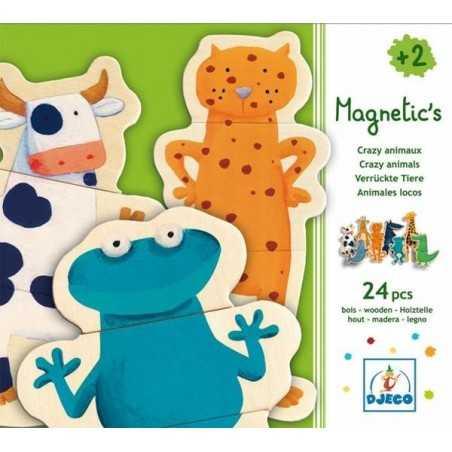 Puzzle magnetico Djeco Animali matti, 24 pz, età 2+ Djeco - 3