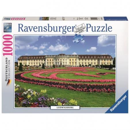 PUZZLE ravensburger CASTELLO DI LUDWIGSBURG 1000 pezzi DEUTSCHLAND originale 50 x 70 cm Ravensburger - 1