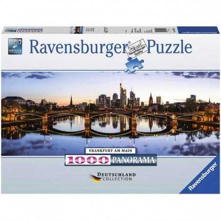 PUZZLE ravensburger ALBA A FRANCOFORTE 1000 pezzi PANORAMA originale 98x37,5cm FRANKFURT Ravensburger - 1