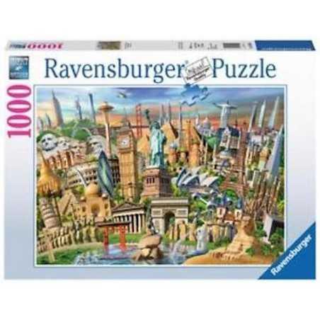 PUZZLE ravensburger MERAVIGLIE DEL MONDO 1000 pezzi WORLD LANDMARKS originale 50 x 70 cm Ravensburger - 1