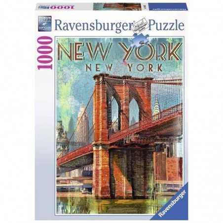 PUZZLE ravensburger RETRO NEW YORK 1000 pezzi PATRICK REID O'BRIEN originale 50 x 70 cm Ravensburger - 1