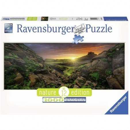 PUZZLE ravensburger SOLE SOPRA L'ISLANDA 1000 pezzi NATURE EDITION 12 originale 50 x 70 cm Ravensburger - 1