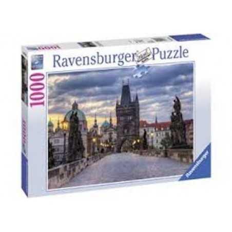 PUZZLE ravensburger PASSEGGIATA A KARLSBRUCKE 1000 pezzi PRAGA 50 x 70 cm Ravensburger - 1