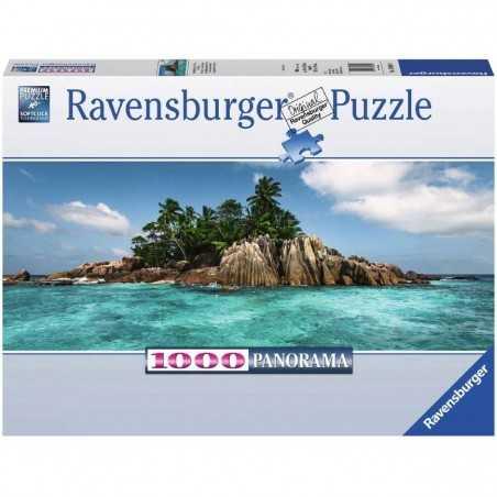 PUZZLE ravensburger PRONTO PER L'ISOLA ILE SAINT PIERRE 1000 pezzi PANORAMA 98 x 37,5 cm Ravensburger - 1