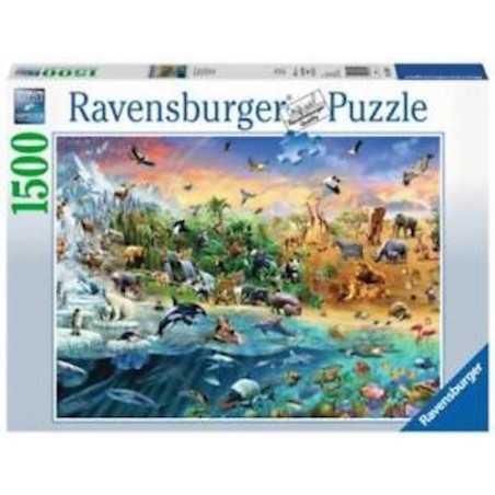 PUZZLE ravensburger MONDO SELVAGGIO softclick 1500 PEZZI our wild world 80 X 60 CM Ravensburger - 1