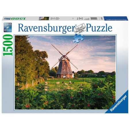 PUZZLE ravensburger MULINO A VENTO SUL MAR BALTICO softclick 1500 PEZZI premium 80 X 60 CM Ravensburger - 1
