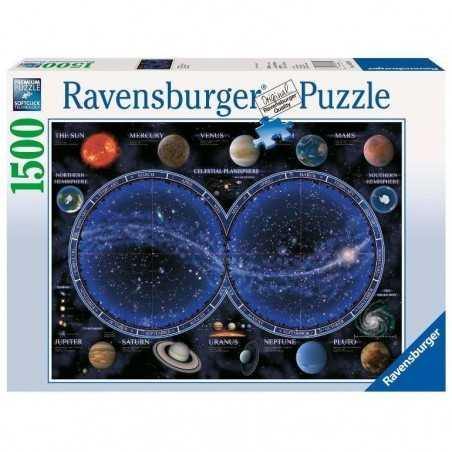 PUZZLE ravensburger PLANISFERO CELESTE softclick 1500 PEZZI premium 80 X 60 CM Ravensburger - 1