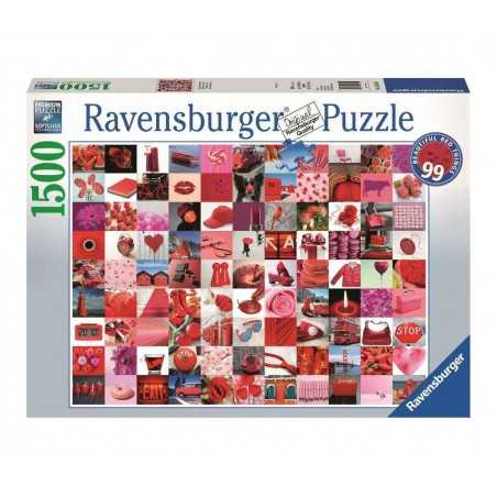PUZZLE ravensburger 99 BELLE COSE ROSSE softclick 1500 PEZZI beautiful red things 80 X 60 CM Ravensburger - 1