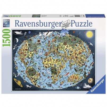 PUZZLE ravensburger TERRA COLORATA softclick 1500 PEZZI cartoon earth 80 X 60 CM Ravensburger - 1