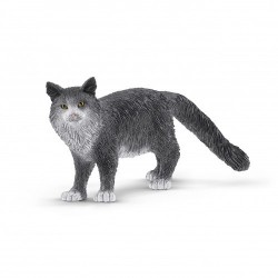 GATTO MAINE COON animali in resina SCHLEICH miniature 13893 Farm World GATTI età 3+ Schleich - 1