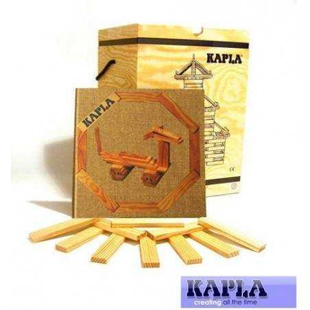 KAPLA box 280 pz. naturali e libro spunti creativi costruzioni in legno Kapla - 7