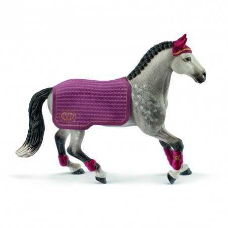 GIUMENTA TRAKEHNER DA CONCORSO animali in resina SCHLEICH miniature 42456 Horse Club CAVALLI età 3+ Schleich - 1