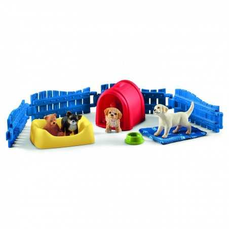 CUCCE E CUCCIOLI animali in resina SCHLEICH miniature 42480 Farm World CANI età 3+ Schleich - 1