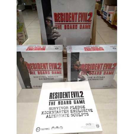RESIDENT EVIL 2 THE BOARD GAME including Expansions Kickstarter exclusives Steamforged Games - 1