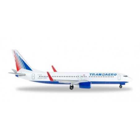 TRANSAERO BOEING 737-800 modellino HERPA aereo in metallo 527668 scala 1:500 WINGS Herpa - 1