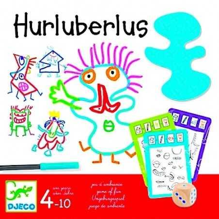 HURLUBERLUS gioco da tavolo DJECO carte e dadi DISEGNO personaggi pazzi DJ08468 età 4+ Djeco - 1