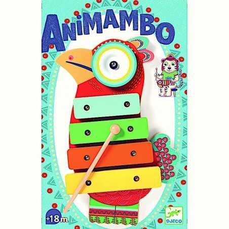 CYMBAL E XILOFONO in legno DJECO strumento musicale ANIMAMBO gioco DJ06018 età 18 mesi + Djeco - 1