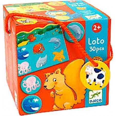 LOTO tombola ANIMALI in cartone 30 PEZZI gioco DJECO lotto DJ08120 età 2+ Djeco - 1