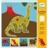 STENCIL DINOSAURI kit artistico DJECO 5 tavole DJ08863 sagome perforate STENCILS età 4+ Djeco - 1