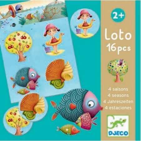 LOTO tombola 4 QUATTRO STAGIONI in cartone 16 PEZZI gioco DJECO lotto DJ08123 età 2+ Djeco - 1