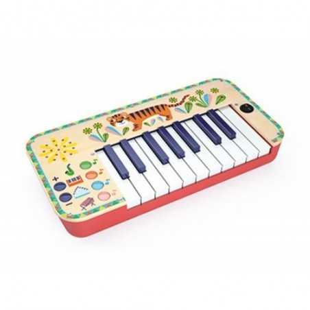 TASTIERA sintetizzatore ANIMAMBO in legno DJECO organo piano sax xilofono DJ06023 età 3+ Djeco - 1