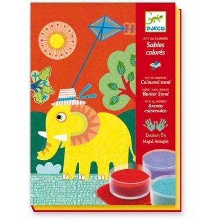SABBIA COLORATA ALL'APERTO DJECO kit creativo decorativo per bambini dj08660 Djeco - 3