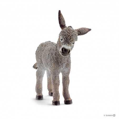 ASINO PULEDRO animali in resina SCHLEICH miniature 13746 Farm World DONKEY FOAL età 3+ Schleich - 1