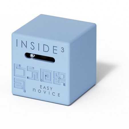 CUBO EASY NOVICE azzurro INSIDE 3 insidezecube MADE IN FRANCE rompicapo PICCOLO E SEMPLICE cube 8+ INSIDE 3 - 1
