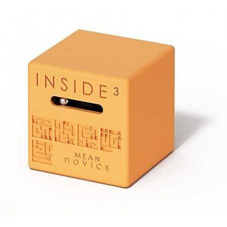 CUBO MEAN NOVICE arancione INSIDE 3 insidezecube MADE IN FRANCE rompicapo PICCOLO E SEMPLICE cube 8+ INSIDE 3 - 1