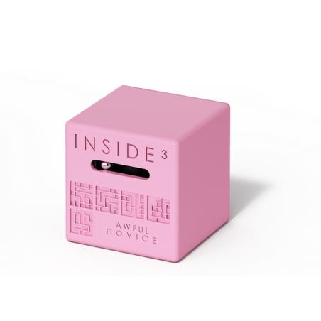 CUBO AWFUL NOVICE rosa INSIDE 3 insidezecube MADE IN FRANCE rompicapo PICCOLO E SEMPLICE cube 8+ INSIDE 3 - 1