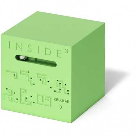 CUBO REGULAR 0 verde INSIDE 3 insidezecube MADE IN FRANCE rompicapo GRANDE E AVANZATO cube 8+ INSIDE 3 - 2
