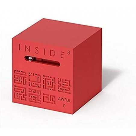 CUBO AWFUL 0 rosso INSIDE 3 insidezecube MADE IN FRANCE rompicapo GRANDE E AVANZATO cube 8+ INSIDE 3 - 1