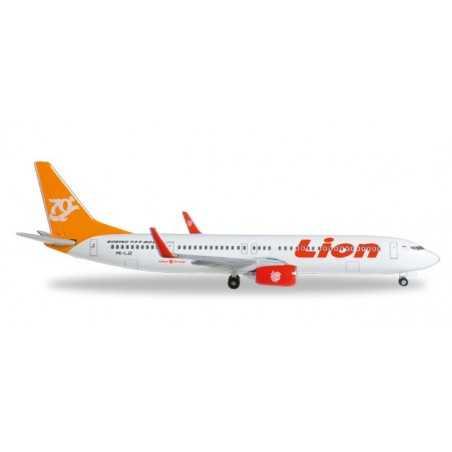 LION AIR BOEING 737-900ER 70° BOEING NEXT GENERATION 737 modellino HERPA aereo in metallo 527989 scala 1:500 WINGS Herpa - 1