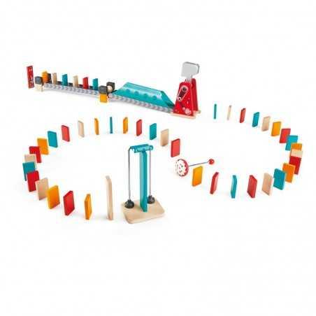 MIGHTY HAMMER DOMINO martello robot HAPE gioco di imitazione IN LEGNO e plastica 59 PEZZI steam E1056 età 4+ Hape - 1
