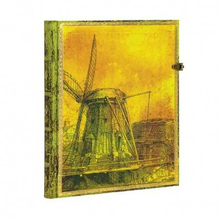 Diario a righe REMBRANDT Mulino ultra cm 18x23 Paperblanks edizione limitata notebook taccuino Paperblanks - 1
