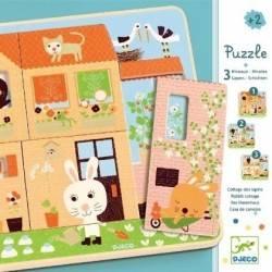 Puzzles Djeco wooden RABBIT...