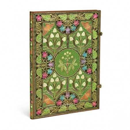 Diario bianco POESIA IN FIORE grande cm 21x30 Paperblanks notebook taccuino Paperblanks - 1