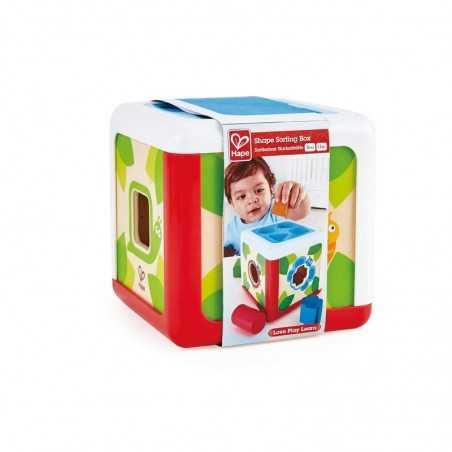SCATOLA FORMINE shape sorting box FORME gioco HAPE incastri E0507 in plastica 5 PEZZI età 12 mesi + Hape - 1