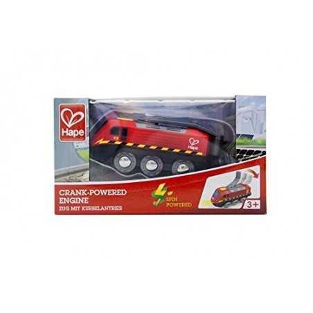 LOCOMOTIVA A MANOVELLA crank powered engine TRENO gioco HAPE spin E3761 pista trenino 3+ Hape - 2