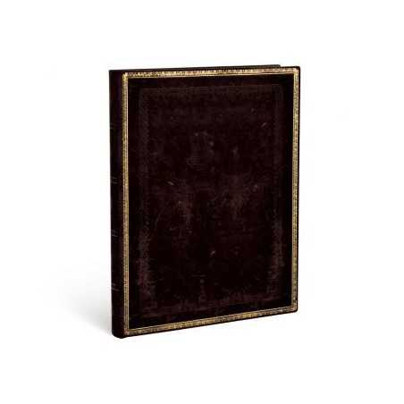 Diario flexi a righe NERO MAROCCHINO ultra cm 18x23 Paperblanks 240 pagine notebook flessibile taccuino Paperblanks - 1