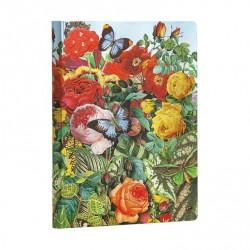 Diario bianco GIARDINO DELLE FARFALLE midi cm 12x17 Paperblanks notebook taccuino Paperblanks - 1