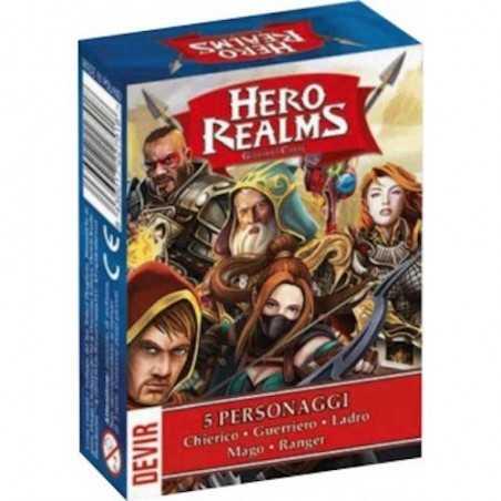 HERO REALMS confezione 5 personaggi DEVIR chierico guerriero ladro mago ranger GIOCO DI CARTE età 12+ DEVIR - 1