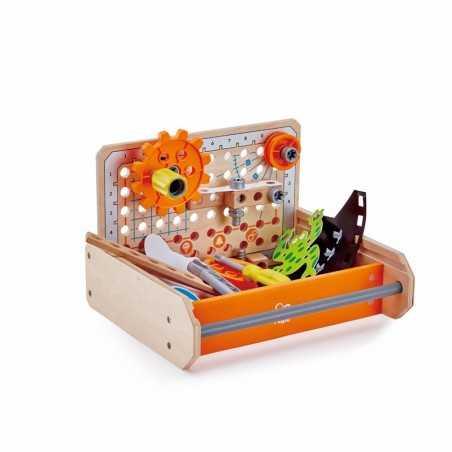 SCIENCE EXPERIMENTS TOOLBOX junior inventor HAPE cassetta scoperte scientifiche IN LEGNO gioco di imitazione E3029 età 3+ Hape -
